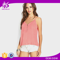 Pretty new arrival high fashion plain designer fancy ladies crop tops latest design
