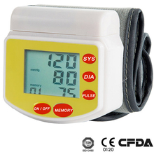 Best Portable Blood Pressure Monitor with Date/Time Stamp Big LCD High Accuracy GT-701 wrist type blood pressure meter