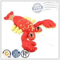 2014 China animal plush toy top 10 Sales promotion shrimp plush toy