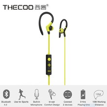 Wireless bluetooth stereo music headphone Thecoo high quality mini sport headset