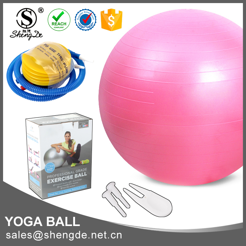 2016 gym ball, eco friendly bouncing balls, exercise ball logo printing