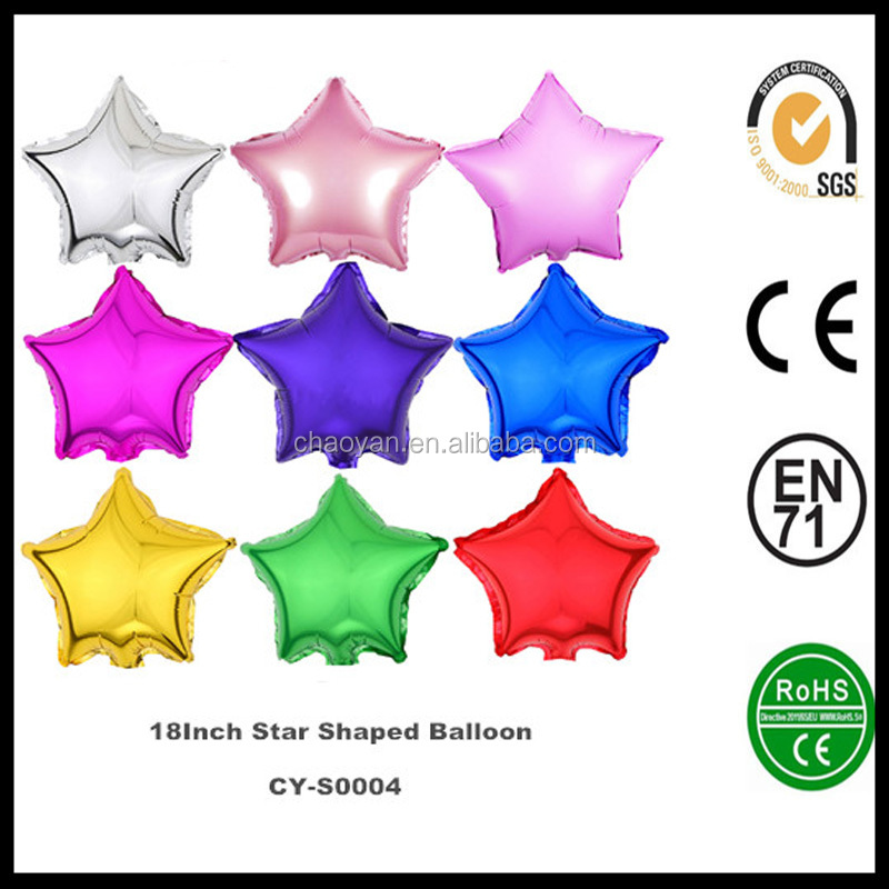 Wholesale Latex Custom Helium Balloons 18 Inch Star Shaped Helium foil balloons ,Advertising Customized Inflatable Foil Balloon