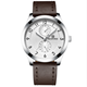 NAVIFORCE NF 3004 Environmental Plating Watch With Five Working Hand Strong Leather Male Clock 3ATM Water Resistant