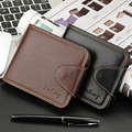2016 New Brand Man wallet, short and business casual parttern wallet for men with zip fastener