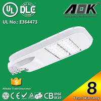 New aluminum lamp body IP67 100w led street light manufacturer with UL/cUL DLC SAA