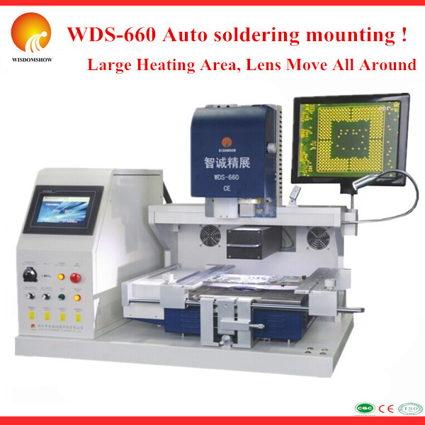 Laser soldering system WDS-660 bga soldering machine with optical alignment HD removable camera