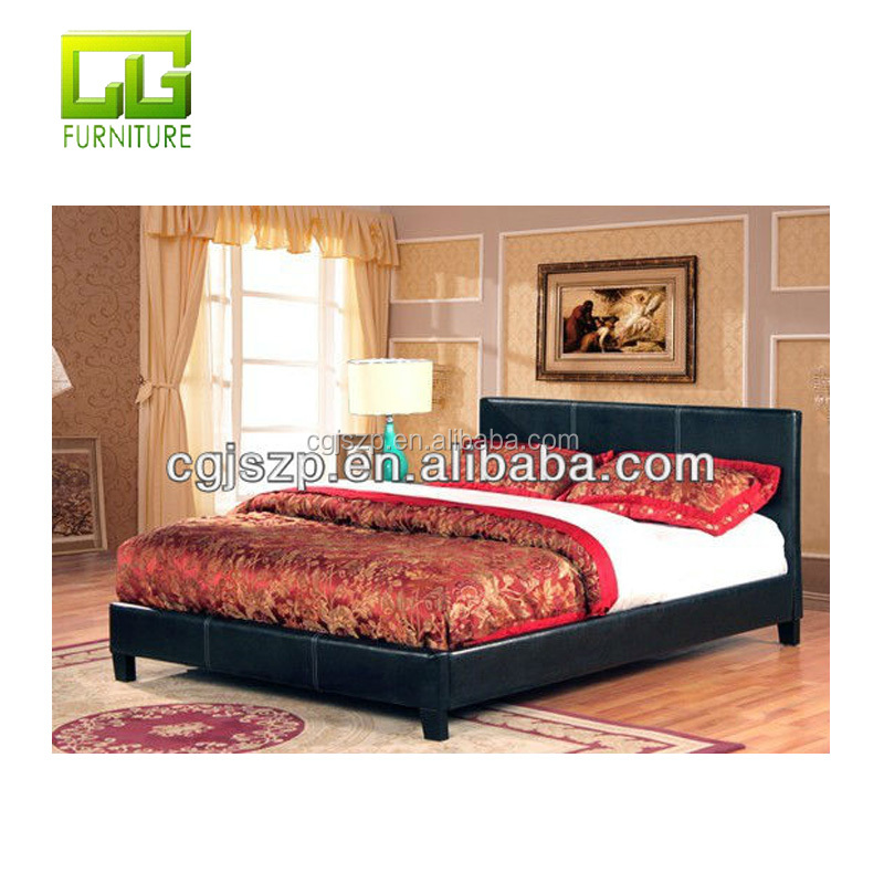 Cheap Black leather prado pu bed to wholesale