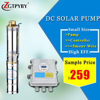 high lift head submersible solar water pump system for irrigation controller for solar pumps