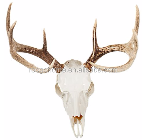 ROOGO cartoon tu wild animal deer skull home supplies resin <strong>wall</strong> hanging