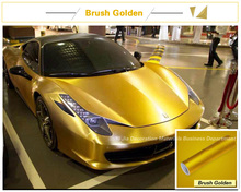 China wholesale brushed metal chrome vinyl car wrap for car decoration 1.52*20M