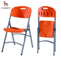 Hot sale folding chairs used metal steel folding plastic chairs for sale