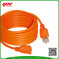 Triple tap multi socket plastic piping cord extension cord