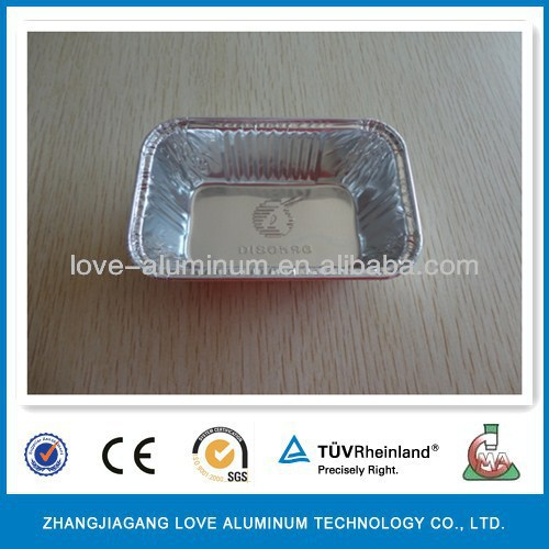 Hot Sale Recyclable Environmental Rectangular Disposable Pollution-free (ISO9001/ISO14001/FDA/SGS) Foil Container With Dome Lid