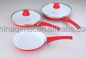 non stick ceramic coating aluminum fry pan with glass lid