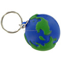 Presonalized Create Plastic Earth Ball Key Ring Holder/Creative PVC Key Chain Producer/OEM Plastic Keychain Ring
