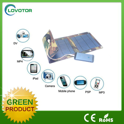 Waterproof 5v 7w portable foldable solar mobile charger for MP3 MP4 camera digital device