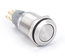 3A IP65 16mm Momentary waterproof OFF-(ON) type stainless steel sealed Anti-vandal push button switch waterproof 250V
