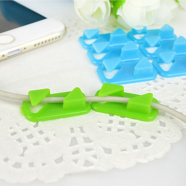 OEM Clear and Colorful Acrylic Desk Organizer Cord Management Computer Accessories Usb Cable Holder