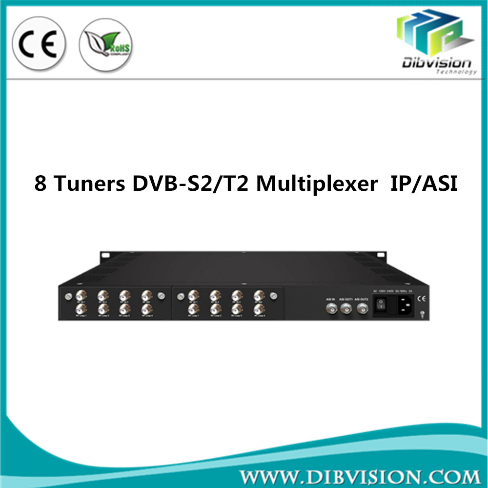 Half price 8 dvb-t2 to ip gateway with asi input and output multiplexing DVB-S/S2/C