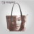 2017 leather handbag manufacturer asia, lady women pu leather tote bag oem designs acceptable