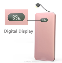 Travel Shark D6 Ultra Slim Power Bank Cell Phone OEM 10000mAh 18000mah 20000mah portable Power Bank