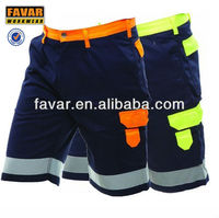 high visibility safety working pants men pants short pants