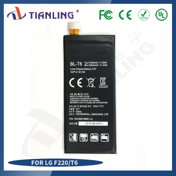 battery lithium ion BL-T6 3.8 battery F220 3000/3100mah for LG