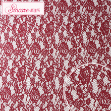 Sincare Manufacture Cheap Cord Fancy design Maroon Lace China And Border