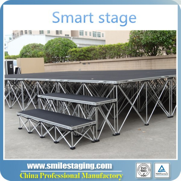 top selling stage risers fashion show stage equipment runway truss