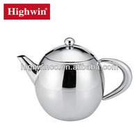 Highly Polished Stainless Steel FDA Tea Pot Set Arabic