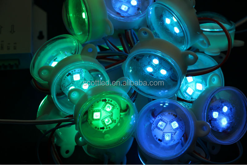 20PCS/String;45MM Programmable Pixel RGB Led String ;5 Voltage;UCS1903led christmas star string lights For Outdoor Light