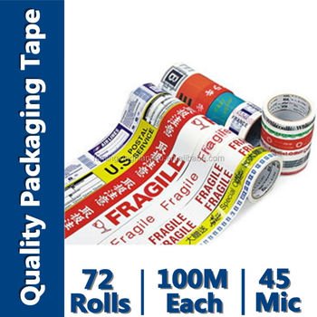 Carton Packing Printed Logo Carton Sealing Tape (BOPP Film and Water-Base Acrylic)