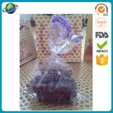 Plastic Custom Printed Block Bottom opp package Bags opp bag