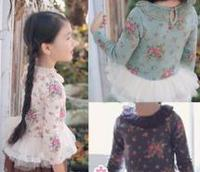 New Products Kid Child Clothes Custom Flower Printing T-Shirt From China Wholesale