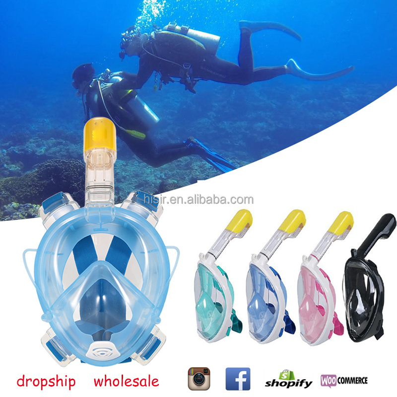 Dropship and Wholsale Safe and waterproof Anti Fog Full Face Diving Mask Snorkeling Set Respiratory masks