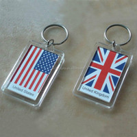 2015 New design round clear acrylic keychain