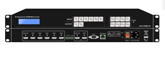 4K*2K HDMI Matrix, 6 input 2 output, 6x2 hdmi matrix switcher supports 3D