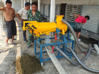 Dairy Farm livestock manure solid liquid separating machine with pump /fowl manure Dewatering machine dung cleaning system