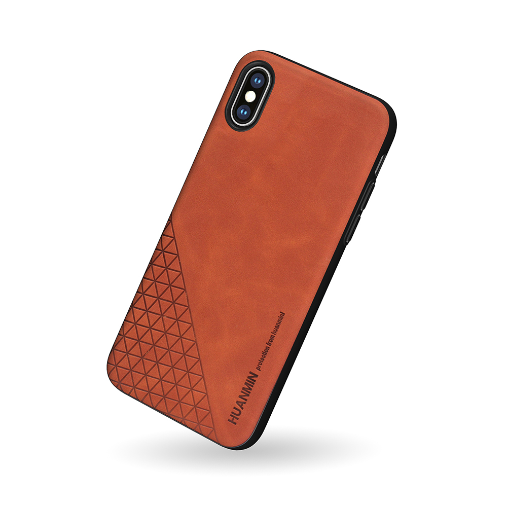 Skin Feeling Leather Soft Silicone TPU Phone <strong>Case</strong> For iPhone