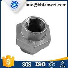 Butt-welding gi pipe fitting Two times baked galvanized union Malleable Iron Pipe Fittings