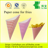 it can be printed the paper cone potato chips paper bags and paper cone & special style