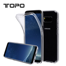 2 in 1 360 degree Double Transparent clear TPU cell phone case full covers For Samsung Galaxy note 8 for iphone