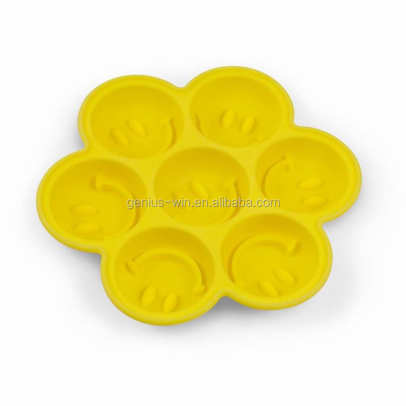 Smile Face Silicon Ice Cube Tray Funny Chocorate Cupcake Brownie Mold