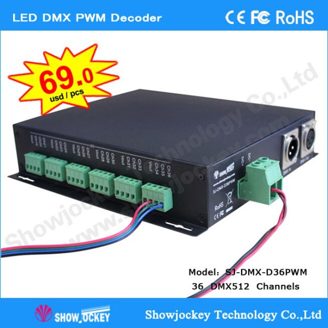 Hot sale 36 Channel LED PWM Controller DMX512 Decoder LED Driver