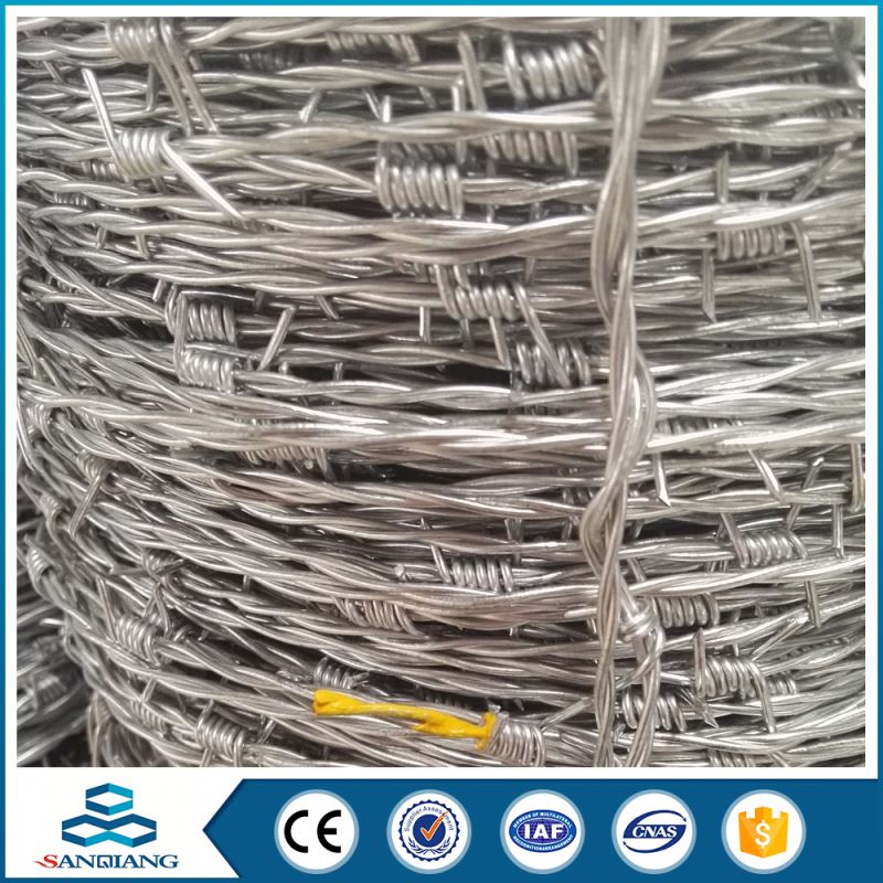 Pvc coated galvanized cheap stainless steel barbed wire big supplier