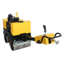 Walking Type Diesel Engine Double Drum Vibratory Pavement Road Roller
