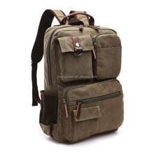 ZW214 Wholesale new men 's shoulder bag Korean high school students canvas leisure computer backpack