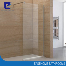walk in one piece framless 8mm glass fixed shower door