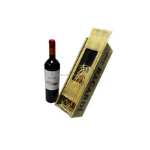 Alibaba antique pine wood old wooden single bottle wine boxes for sale