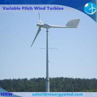 Individual pitch control wind turbine for driving electrical power generator